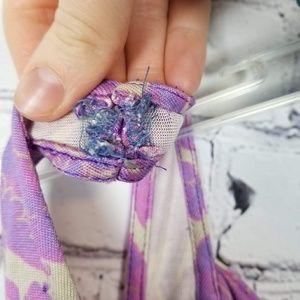 Diane Von Furstenberg Dresses - Diane Von Furstenburg|Purple Floral Drape Dres